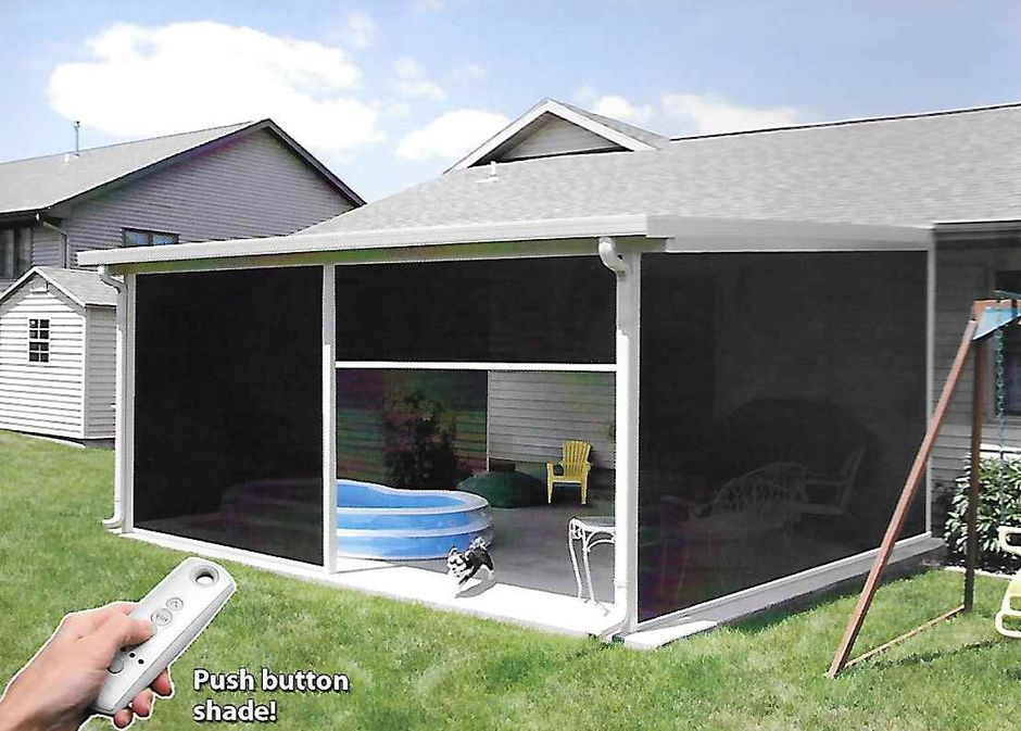 Patio Cover With Retractable Screens